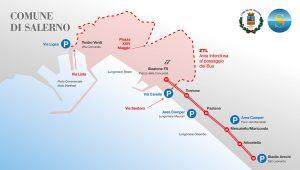 Mappa metro e parcheggi Salerno Città