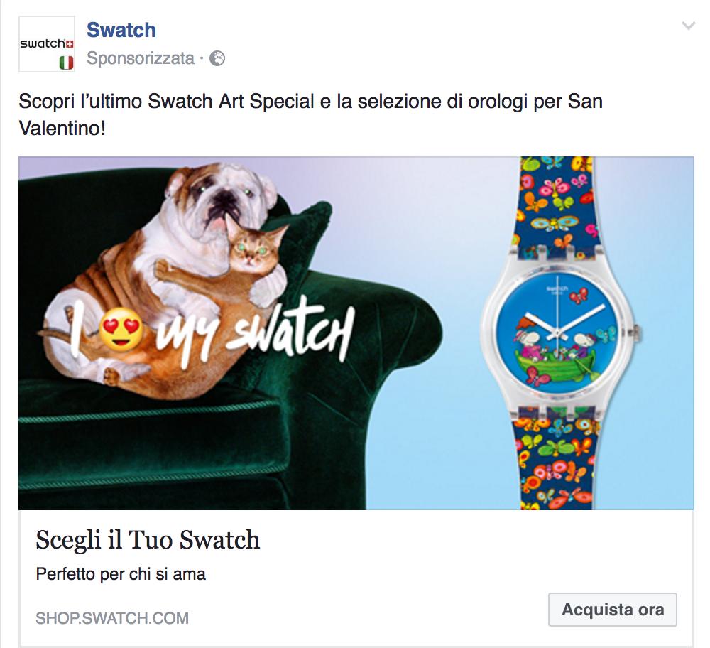 Swatch Campagna Facebook